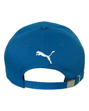 PUMA SOCCER Cat Logo Cotton Baseball Cap Structured Relaxed Fit Golf Tour Hat