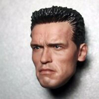 Terminator 2 Arnold Schwarzenegger 1/6 Scale Male Head Sculpt For 12'' Body Toys