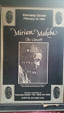Original Vintage Concert Poster Miriam Makeba 1982 In Concert Kennedy Center