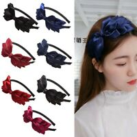 Bowknot Hairband Silk Ribbon Bow Headband Headwear Hair Band Hair t
