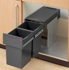 Hailo Tandem 2 x 15 Liter Mülltrennung Abfallsammler Küche ab 30cm Schrankbreite