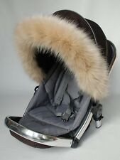 Pram Pushchair Buggy Hood fur trim Universal fit