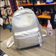 Womens Large Backpack Korean Shiny School Double Shoulder Bags Zip Bookbags K807