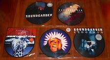 "SOUNDGARDEN 5x 7"" PICTURE DISC Lot BLACK HOLE / SPOONMAN / DAY / FELL / JESUS"