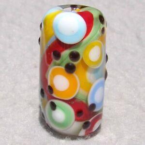 PIÑATA Handmade Art Glass Focal Bead Flaming Fools Lampwork Art Glass SRA
