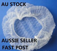 100 Pcs Hair Net Cap Disposable Non Woven Hairnet Spa Tan Dust Cap Stretch Hats