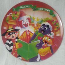 "Free Shipping 1995 MCDONALD'S ""SEASONS GREETINGS"" MELAMINE CHRISTMAS PLATE NICE"