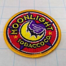 "Vintage 90's 3"" MOONLIGHT TOBACCO Co. Patch R.J. Reynolds Cigarette ADVERTISING"