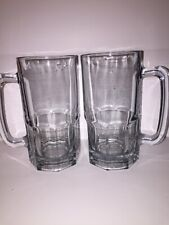 """Vintage Heavy Thick Clear Glass 32 Oz BEER MUG Root Beer 8""""  3 LBS"""