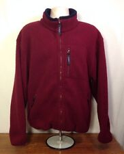 """VTG LL Bean Fleece Zip Up Jacket No Tag Size Either Large or XL - 27"""" x 27"""""""