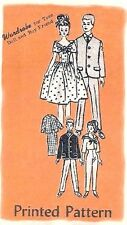 "VINTAGE MAIL ORDER 11.5"" BARBIE KEN DOLL CLOTHES PATTERN 4938"