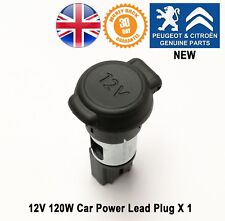 Peugeot 206 308 Mk1 Car Power Lead Plug Lighter Socket 12V 120W New X1 Genuine