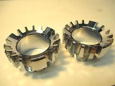 2 Exhaust pipe nuts Norton Commando 850 MK3 1975 long threads 06-3555 lock ring
