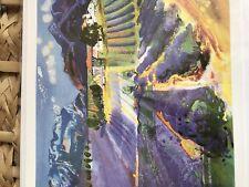 Art card lavender fields