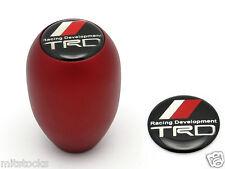 NEW SANDBLASTING RED MT MANUAL TRANSMISSION GEAR SHIFT KNOB TRD EMBLEM