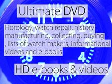 FULL DVD of HOROLOGY, CLOCK & WATCH MAKING, REPAIR, HISTORYBooks+modern Videos