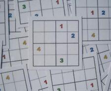 4er-Sudoku sofort einsatzbereit, Kärtchen f. Freiarbeit Grundschule, Lernspiel