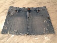Women's/Juniors ROXY Denim Skirt Light Wash Destroyed Size 5