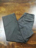 Women's Ann Taylor Curvy Fit Chocolate Brown Chino Pants Size 6 Wide Leg