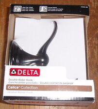 """Delta """"Celice"""" Double Robe Hook - Venetian Bronze - #70535-Rb - New"""
