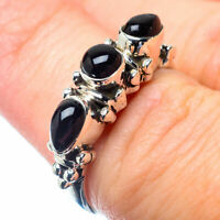 Black Onyx 925 Sterling Silver Ring Size 6.75 Ana Co Jewelry R27016F