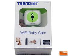 TRENDnet 720p HD Wireless Cloud Baby Cam, IP/Network, MicroSD Card Slot,
