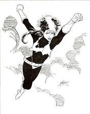 ROGUE X-MEN ORIGINAL MATT HALEY DRAWING COMIC ART MARVEL 11X14 WOLVERINE STORM