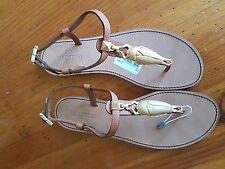 Valentino Garavani Embellished textured-leather sandals UK7.5 EU 40