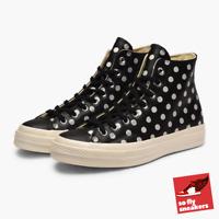 Converse Chuck Taylor All Star 70 High | UK 9 | Polka Dot (Black/Parchment)