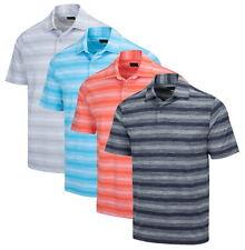 Greg Norman Para Hombres Camisa Polo Golf Rayas de laboratorio estiramiento-G7S21K321-nuevo 2021