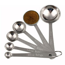 6 Stück Küche Messen Löffel Tasse Sets Rostfrei Stahl Esslöffel Kaffee Tea