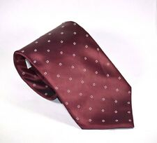 New Classic Length 100% Imported Silk Calvin Klein Maroon Necktie Made in USA