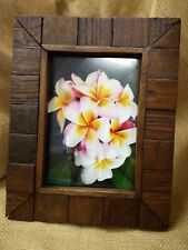 Fair Trade Hand Carved Teak 7 x 5 Photo Frame - 70097-08