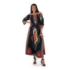 African Print Dashiki  long maxi Dress black
