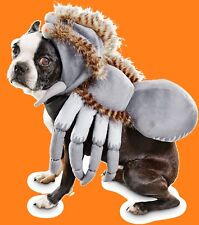 "Petco""Bootique""SPIDER""XS Tarantula Dog Cat Costume Halloween Gray Coat Hoodie Nw"