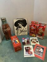 Coca-Cola Collectibles Lot of 6 Items - Metal Tins, Sign, Cards, And Post Cards