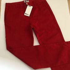 Boys Designer Red Chino Trousers Age 2-3. ABC123me  New WithTags RRP£39.00