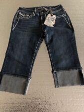 Women's LA Idol Capri Jeans  Blue (W 31 L 18) Size 9