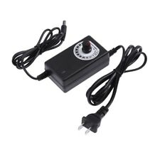 Adjustable AC to DC Adapter 3-12V 2A Power Supply Motor Speed Controller US Plug