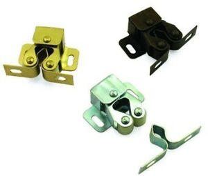 Möbelschnäpper Schnäpper Doppel-Rollenschnäpper Schnappverschluss Stahl