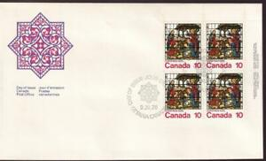 Canada FDC 1976 Christmas Nativity 10¢, UR PB sc#698