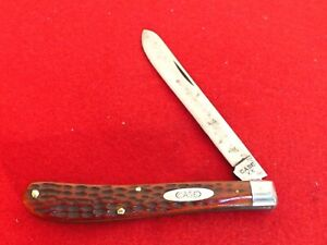 Case XX 1940-64 pretty red bone 61048 spey blade trapper knife