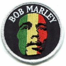 BOB MARLEY rasta-color face IRON-ON PATCH **FREE SHIPPING** reggae rasta d 19500