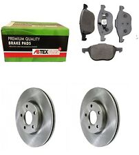 FRONT BRAKE DISCS AND BRAKE PADS FITS FORD FOCUS C-MAX KUGA VOLVO S40 V50 300mm