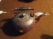 RARE OLD Original ART BRONZE/COPPER Antique Chinese Engraved Storyteller Teapot