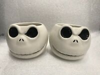 Set Of 2 Nightmare Before Christmas Jack Skellington 20oz Sculpted Ceramic Mugs