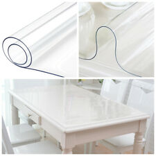 Pvc Clear Rectangular Table Cover Protector Transparent Tablecloth Waterproof
