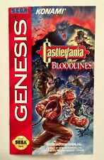 Castlevania: Bloodlines - Sega Genesis - Reproduction Manual Instruction Booklet