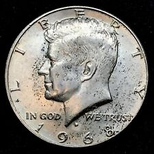 1968-D Kennedy Half Dollar  40% SILVER Collector Coin. Item #1