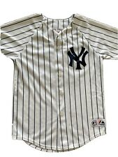 VTG Alex Rodriguez Boys Youth Jersey Medium M New York Yankees Majestic Rare GUC